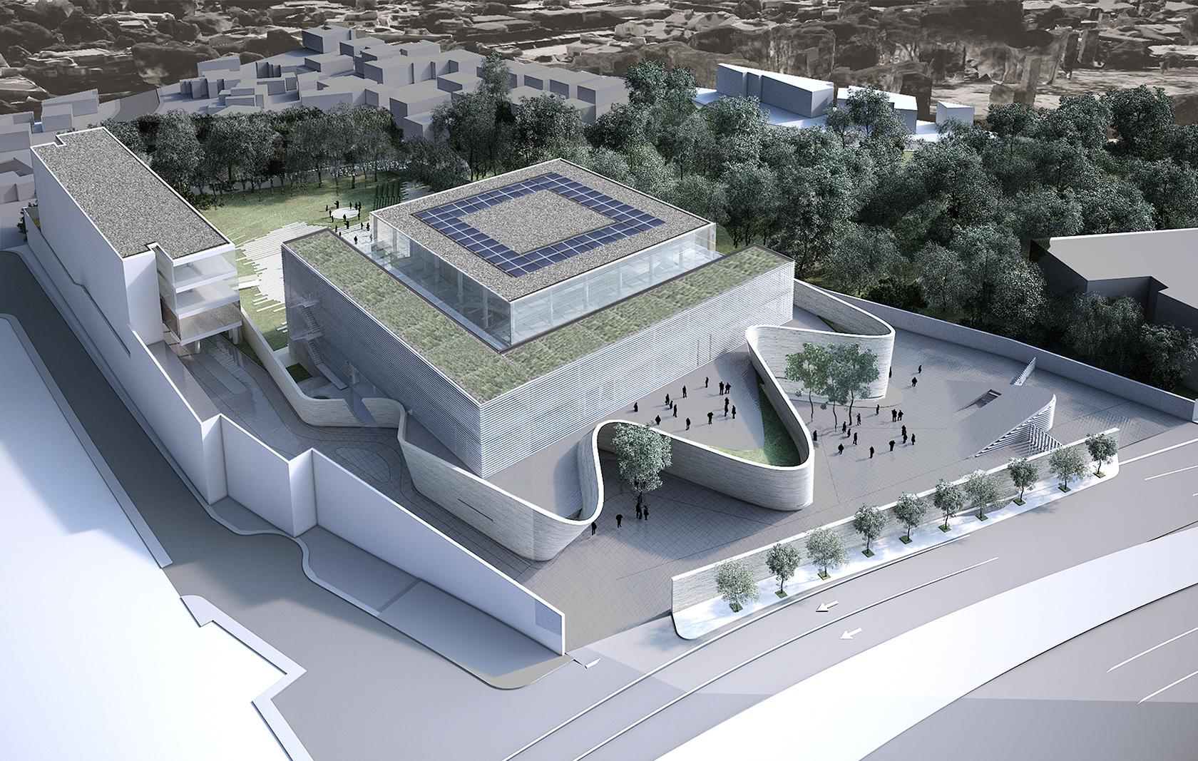 Proyecto sustentable con techos verdes y paneles solares